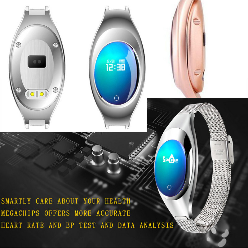 Z18 Red White Black Women Sport Bluetooth Smart Bracelet Fitness Pulsometer Heart Rate Monitor Smartband On Wrist ZIMINGU 17 13
