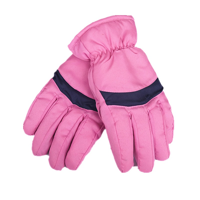 Hearty Men Women Winter Snow Gloves Windproof Antislipping Leather Palm Full Finger Gloves Warm Cotton Sports Skating Skiing Mittens