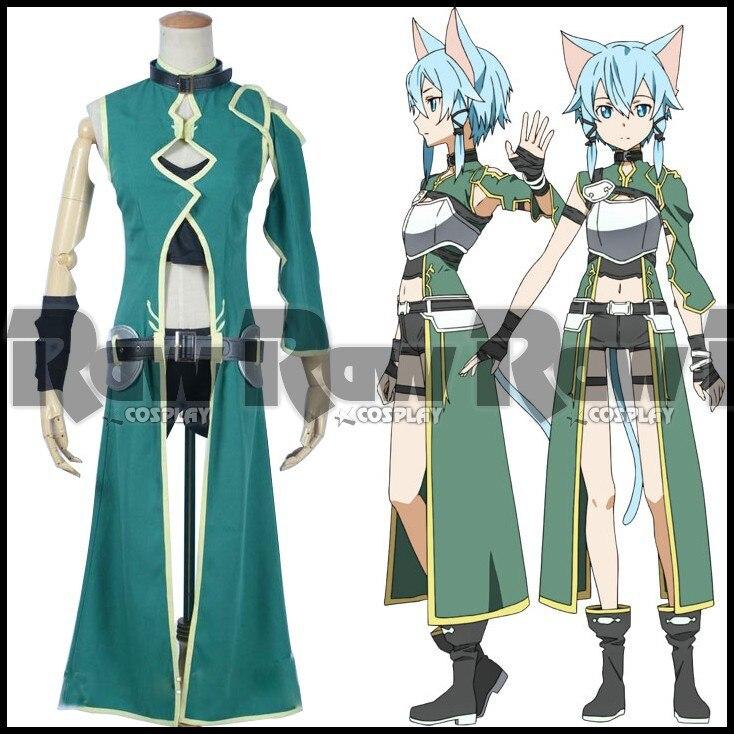 Sword Art Online GGO Asada Shino Sinon Phantom Bullet Anime Cosplay Costume Cos