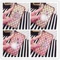 Мода Горный Хрусталь gem противоударный корпус металлический Кольцо Телефон Владельца чехол Для Huawei mate 7 mate 8 mate S honor 5X Кремния крышка