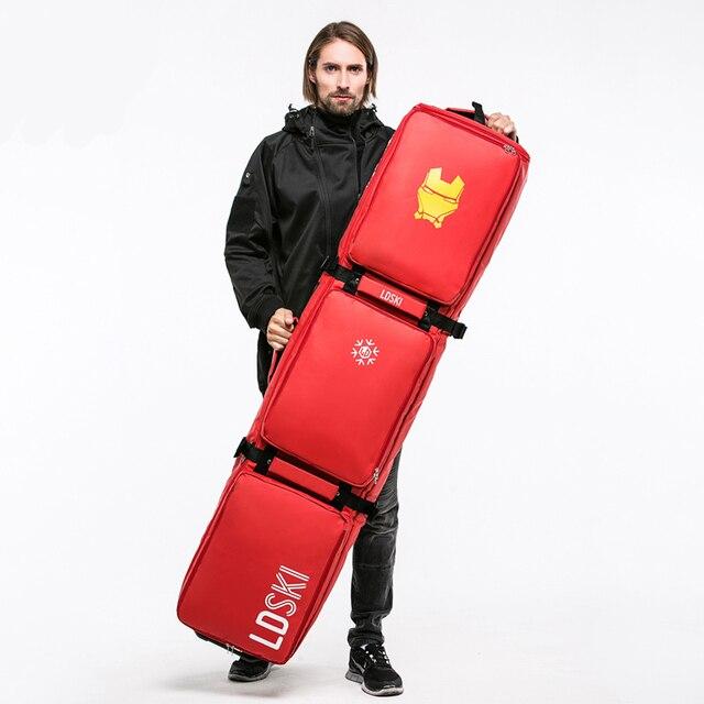 ba79ebc14510 162cm Ski bag Double-board Snowboard Bag With Wheels Large Capacity Waterproof  Wearable Skiing Bags Ski Equipment. Price