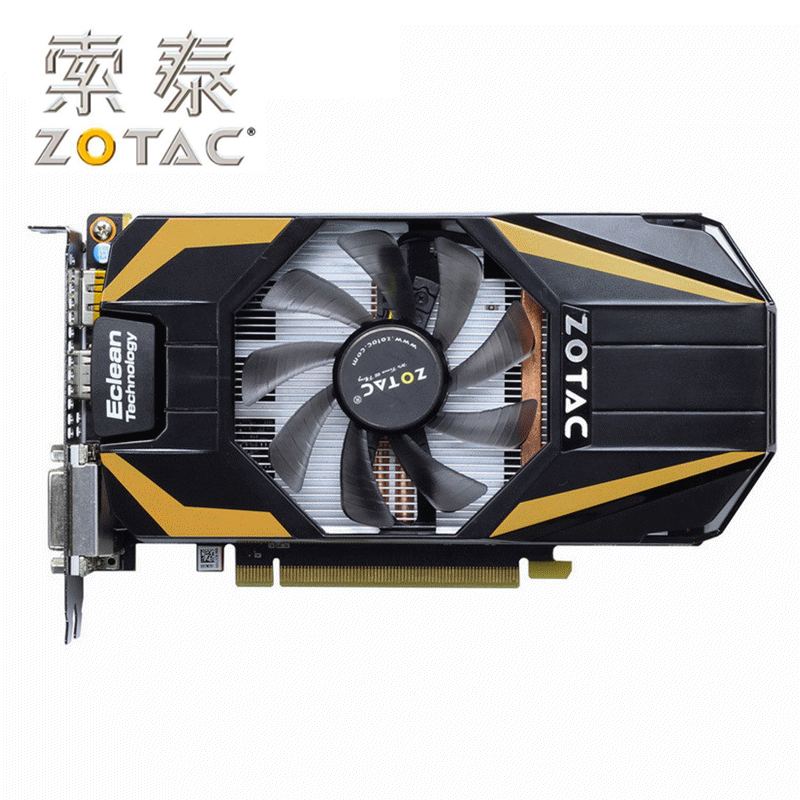 D'origine ZOTAC GeForce GTX 650Ti Boost-1GD5 Thunder PA GPU 192Bit GDDR5 Carte Graphique Carte Graphique VGA GTX650 Ti Boost 1g Hdmi