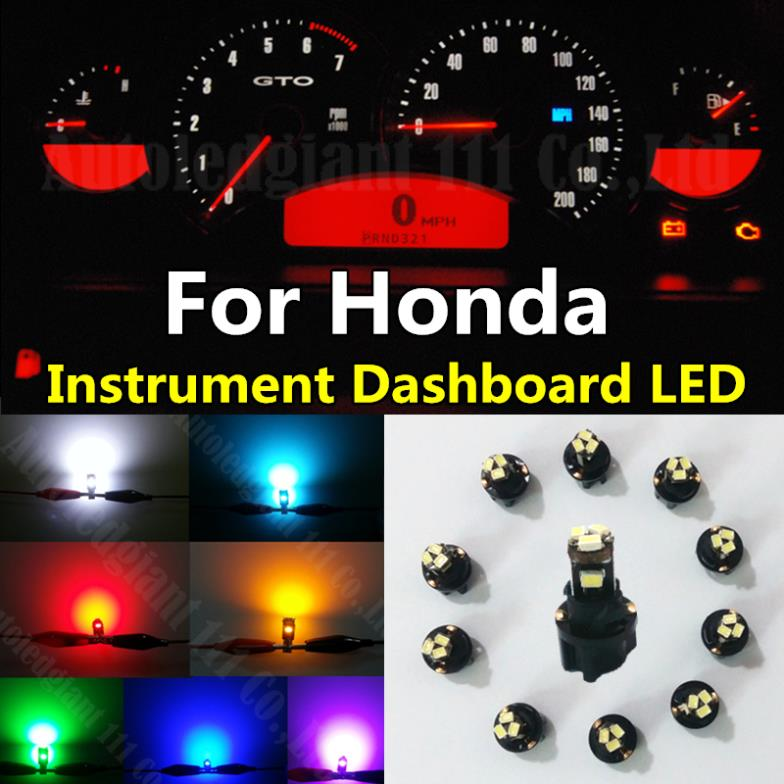 10pcs Green White Red Blue Dash T5 LED Socket Instrument Panel Light Bulb  For Honda Accord Civic CR V Fit Element Pilot In Car Headlight Bulbs(LED)  From ...