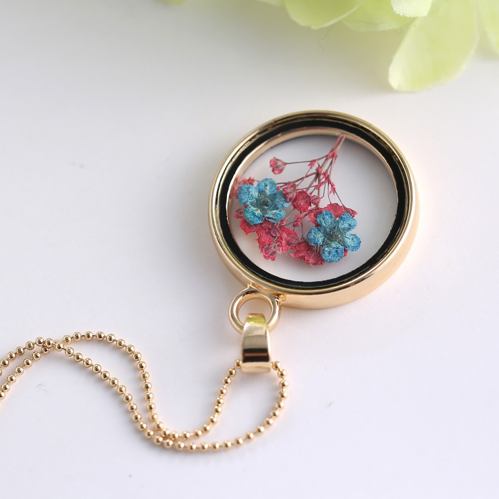 Boutique women flower jewelry real dried flower glass pendant boutique women flower jewelry real dried flower glass pendant necklace memory locket necklaces pendant charm jewelry for gifts in pendant necklaces from aloadofball Gallery