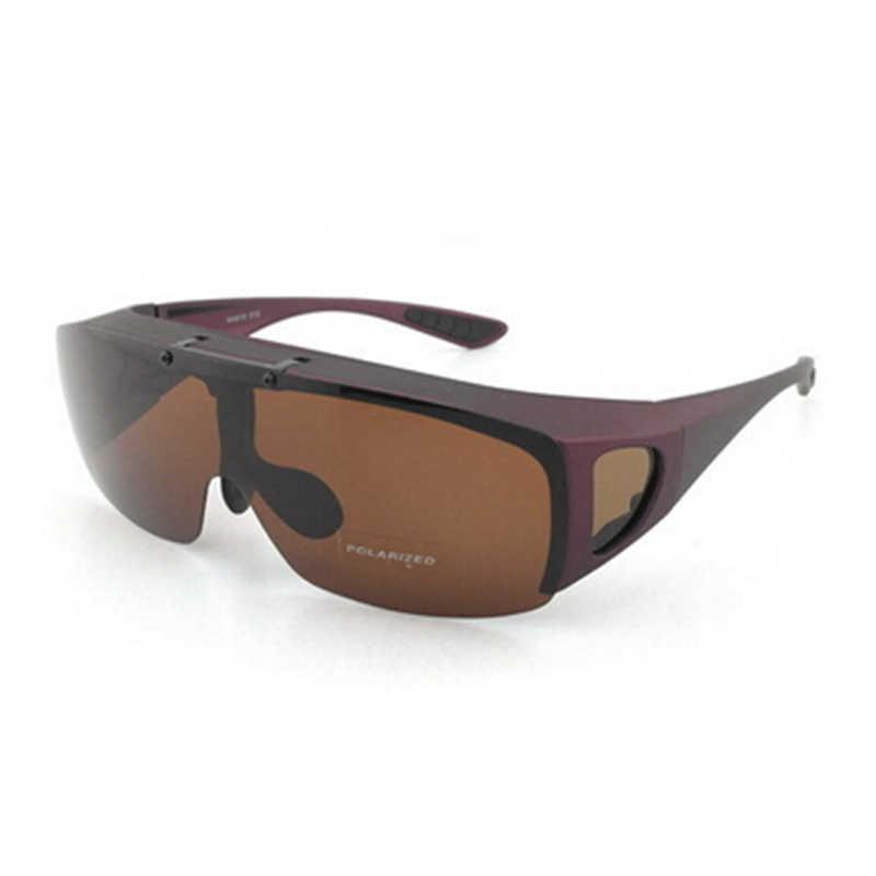 1d6d5b270e ... Stgrt Flip a polarizada moda marco de plástico ajuste hombres gafas de  sol con lente plegable