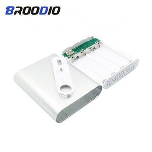Image 4 - 4x18650 بطارية قوة البنك حامل علبة للهاتف المحمول شاحن صندوق لتقوم بها بنفسك عدة 18650 USB شحن تخزين قذيفة ل شاومي