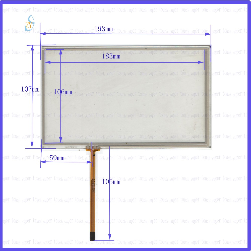 ZhiYuSun  193mm*107mm KDT-3113  8inch Touch Screen glass  resistive USB touch panel  193*107 TOUCH SCREEN this is compatible zhiyusun for iq701 new 8 inch touch screen panel touch glass this is compatible touchsensor 124 5 173