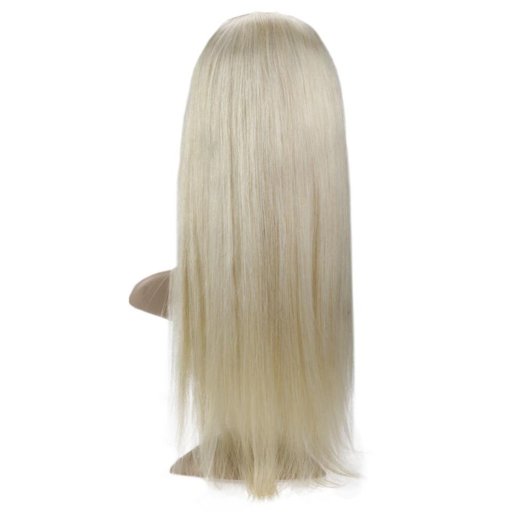 Voller Glanz Haar Stück Extensions Menschliches Haar Ombre Remy Haar Topper Farbe #613 Blond Menschliches Haar Topper Harmonische Farben