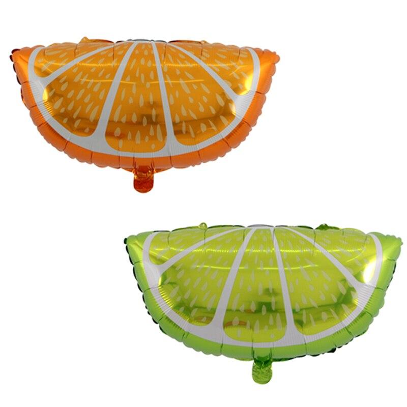 50 pcs citron orange Globos Foil Ballons Gonflable Jouets Fête D'anniversaire Décorations Enfants Fruits Hélium Ballons Articles De Fête