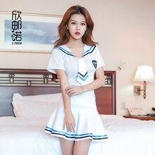 2018 nouvelle Lingerie Sexy filles école marin uniforme mode école classe marine Cosplay Woaixdd sexy école uniforme