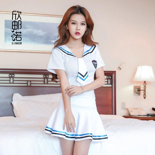 2018新しいセクシーなランジェリー女の子学校セーラー制服ファッションスクールクラス海軍コスプレwoaixddセクシーな学校制服