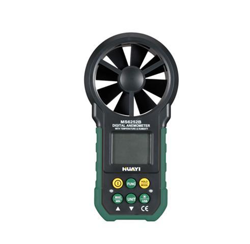 USB Anemometer MS6252B Air Velocity Flow Temperature Humidity 3in1 Test Meter mastech ms6252b digital anemometer air volume ambient temperature humidity with usb temperature and humidity display
