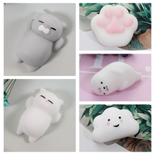 Cute Mochi antistress ball Mini Squeeze Squishy cat Cute Kawaii doll Squeeze Stretchy Animal Healing stress relief toys funny cute mochi squishy tpr cat healing fun kids kawaii squeeze toy stress reliever decor stres