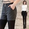 Весна и Осень новый сплошной цвет шерстяные повседневная мода женские шорты Тонкий (4-цвет опционный) TB31