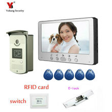 Yobang Security 7″ Video Door Phone Video Door bell Intercom Monitor Kit IR Night Vision Camera Doorbell for Apartment Video