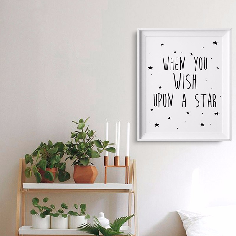 Stars Quotes Kids Poster Nursery Print Art Wall Picture Oil Painting Canvas Prints Baby Room Decor No Frame In Calligraphy