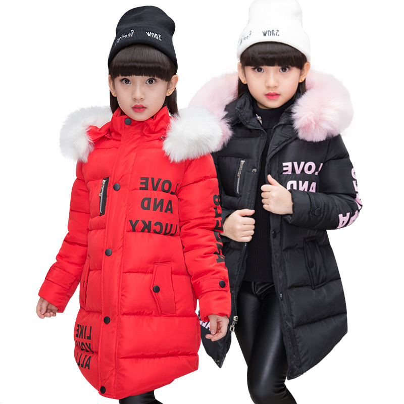 NEW Girl Winter Cotton Padded Jacket Children's Fashion Coat Kids Outerwear Baby's warm down jacket Children Clothing 4 12 years-in Jackets & Coats from Mother & Kids