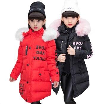 Nova menina inverno algodão-acolchoado jaqueta crianças moda casaco crianças outerwear do bebê quente para baixo jaqueta crianças roupas 4-12 anos