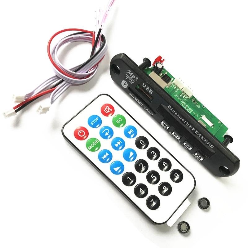 New Bluetooth MP3 Decoding Board Module w/ SD Card Slot / USB / FM / Remote Decoder Board Module ks 509 mp3 player stereo headset headphones w tf card slot fm black