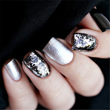 Mirror Glitter Silver Gold Nail Flakes