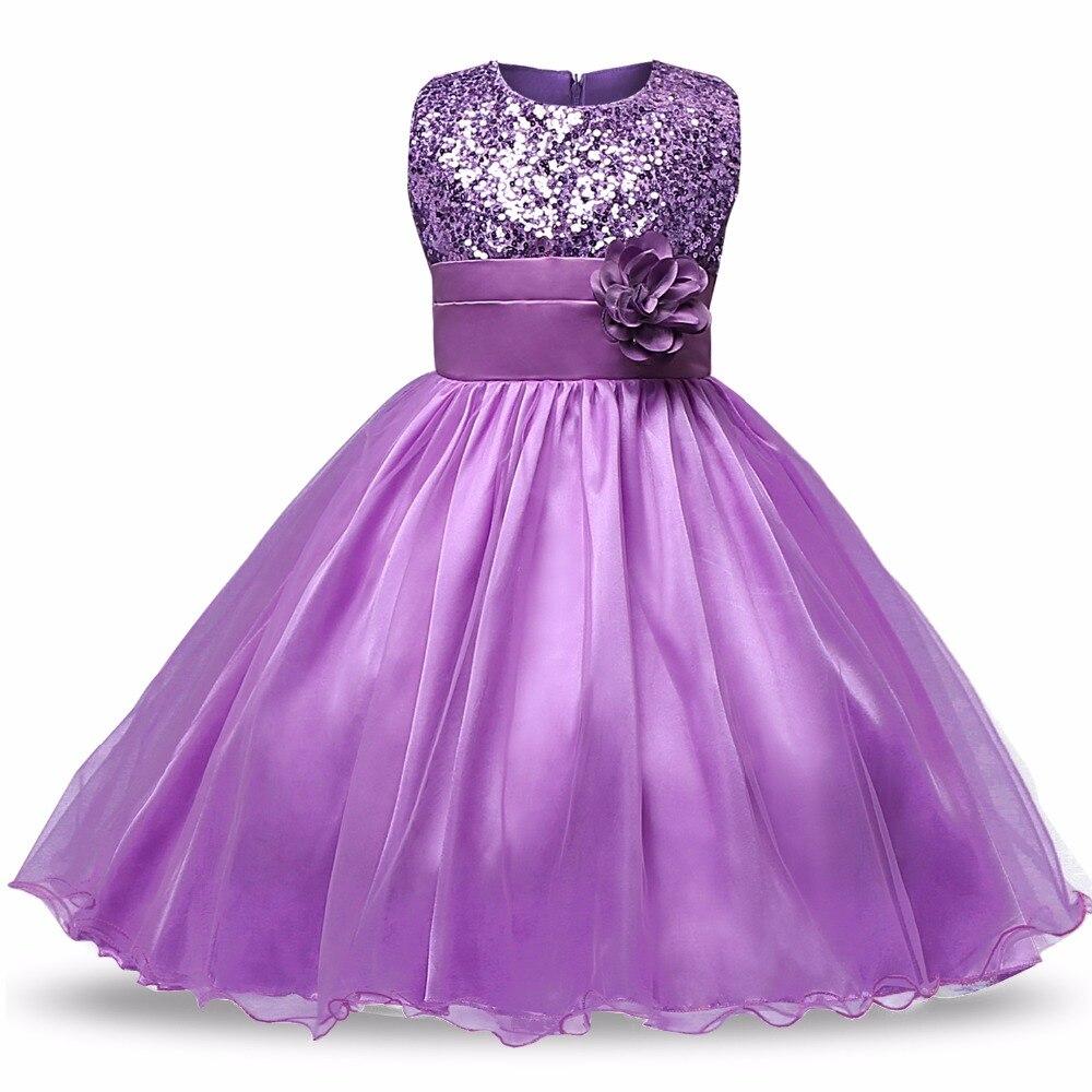 Girls Dresses Children Ball Gown 6 7 8 Birthday Party Princess ...