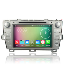 Quad Core Android 5.1.1 Car DVD Player Tape Recorder For Toyota Prius 2009 2010 2011 2012 2013 Left Driving GPS Navigation