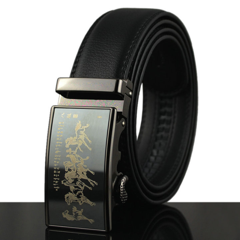2018 Big 135 150cm Business Belt Genuine Real Leather Belts for Men Fashion Cowskin Jeans Wide Waist Straps with Auto Buckle