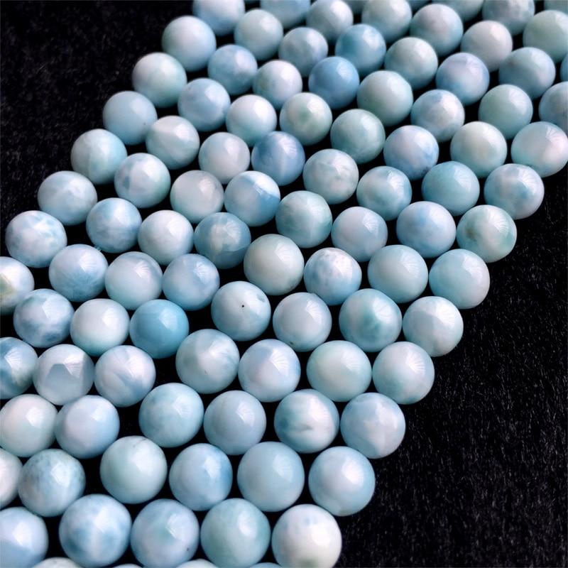 Genuine Natural Blue Larimar Gemstone Crystal Water Drop Bead Pendant AAAAA 24/×19/×8mm