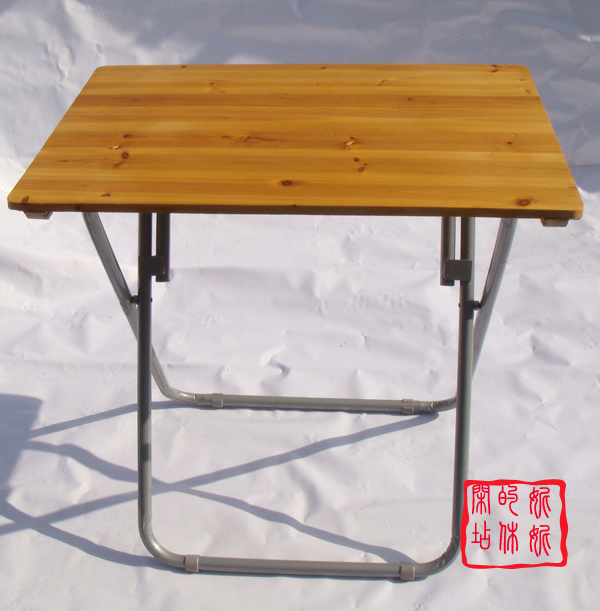 Cheap Simple Student Desk Table Folding Table Small Table Steel Portable  Outdoor Stall Wood Tables
