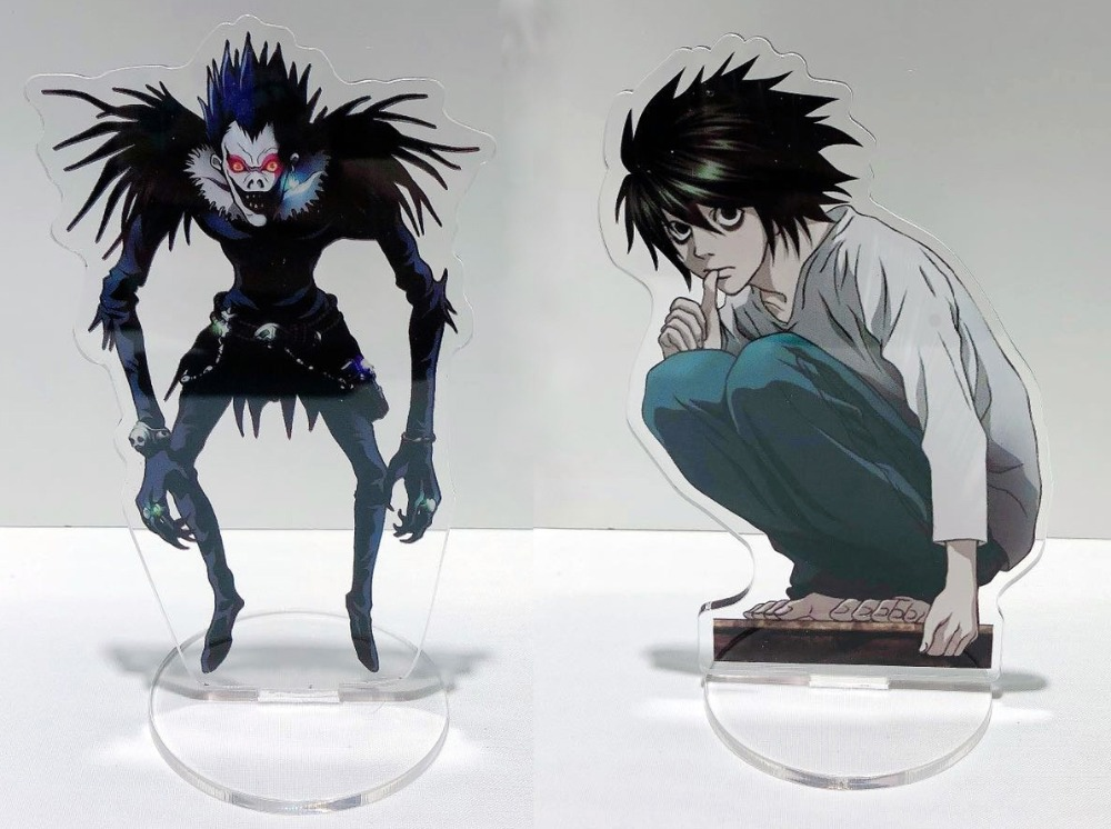 2 Pc Anime Death Note Acrylic Stand Model Toys Two-sided  L Lawliet  Action Figure Pendant Toy Gift