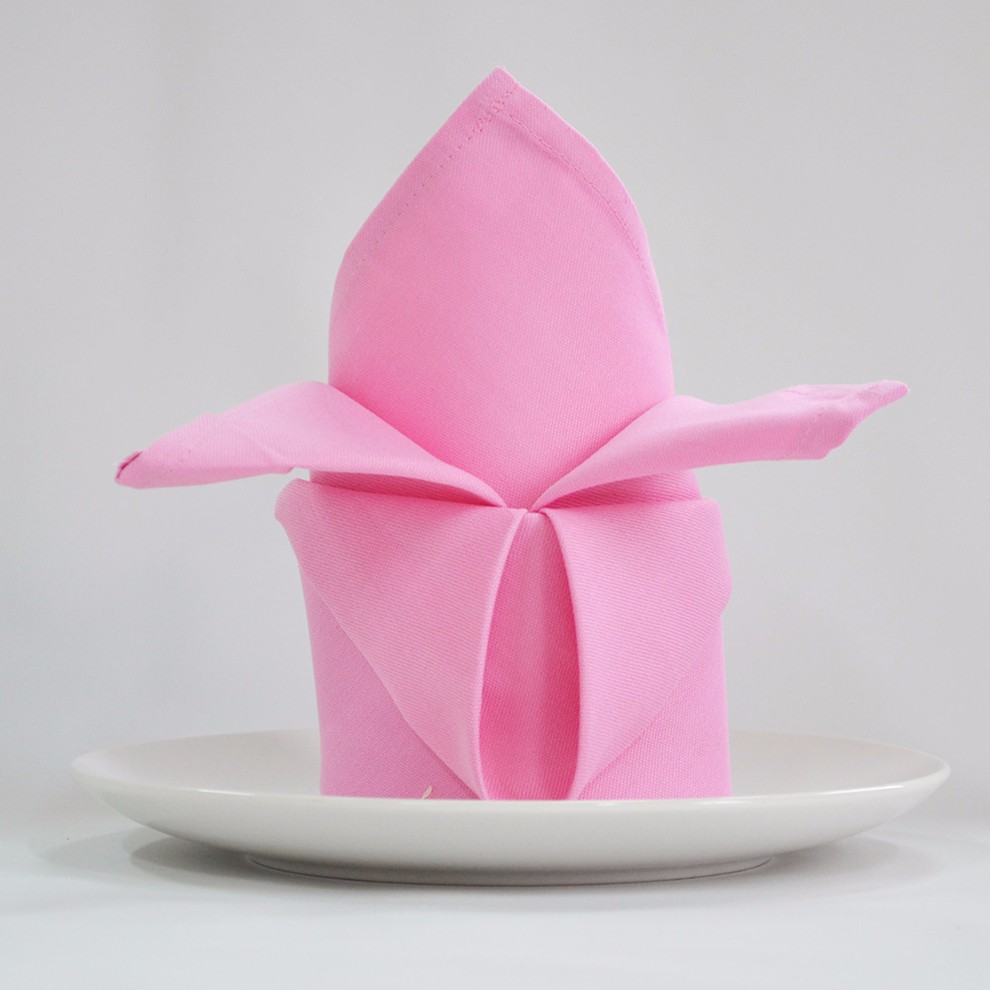 5pcslot I Cloth Color Cotton Flower Napkin Folding Seats Towel Lint