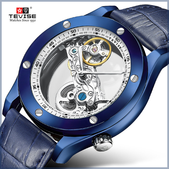 Tevise Automatic Watch Men Mechanical Watches Hollow Skeleton Self Winding Male Sport Wrist Watch Relogio Masculino 2019 New