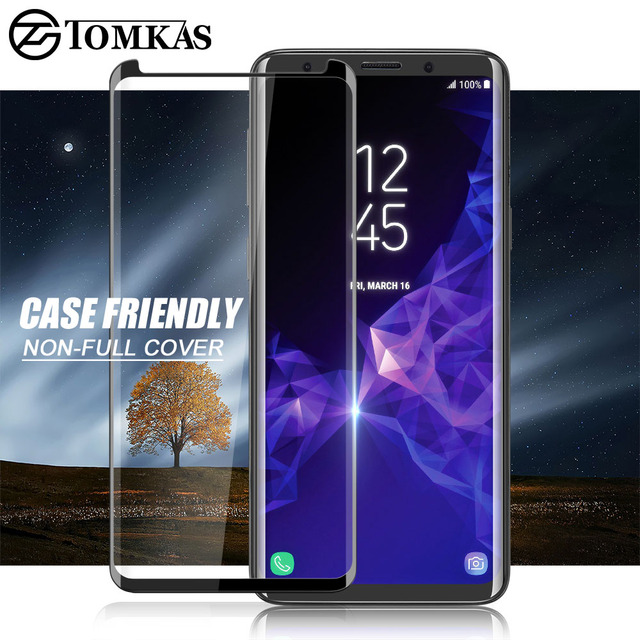 TOMKAS 5D Glass For Samsung Galaxy Note 9 Screen Protector 3D Glass For Samsung Galaxy S9 Plus Galaxy Note 9 8 Screen Protector