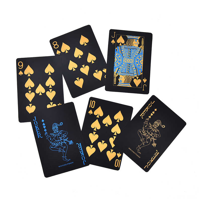 55 teile/satz Kunststoff PVC Poker Wasserdicht Schwarz Spielkarten Kreative Geschenk Durable Poker