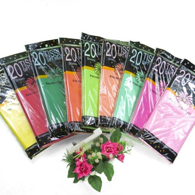 20 sztuk/worek tkanki opakowanie na prezent kolorowe owijanie tkanki papierowa kwiecista kula latarnia dekorowanie odzieży buty farsz