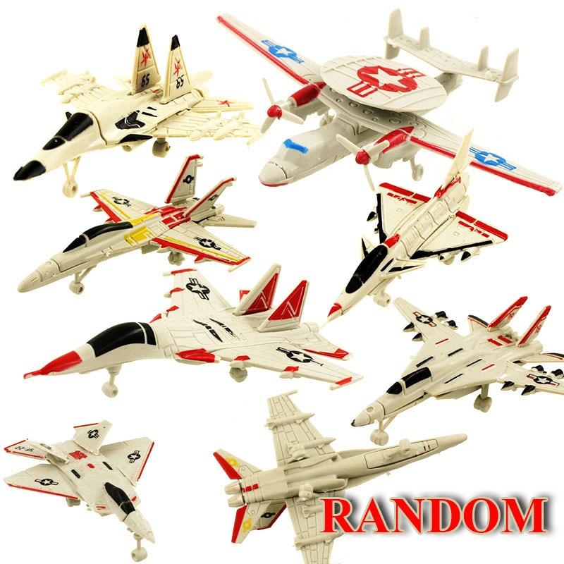 1Pcs Random MINI font b Building b font Blocks Assemble Aircraft font b Model b font
