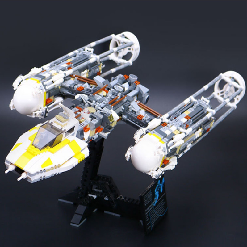 LEPIN 05040 Star Series War MOC Y-wing Attack Starfighter Model 2067Pcs Building Block Bricks Toys Compatible 75060 Boy Gifts lepin 05040 y attack starfighter wing building block assembled brick star series war toys compatible with 10134 educational gift