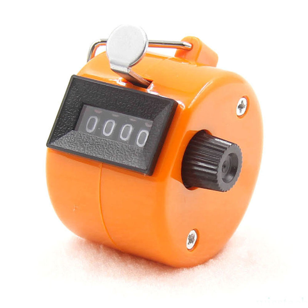 4-разрядный счетчик ручной счетчик Гольф-кликер Талли Портативный Механические универсальный - Цвет: Orange