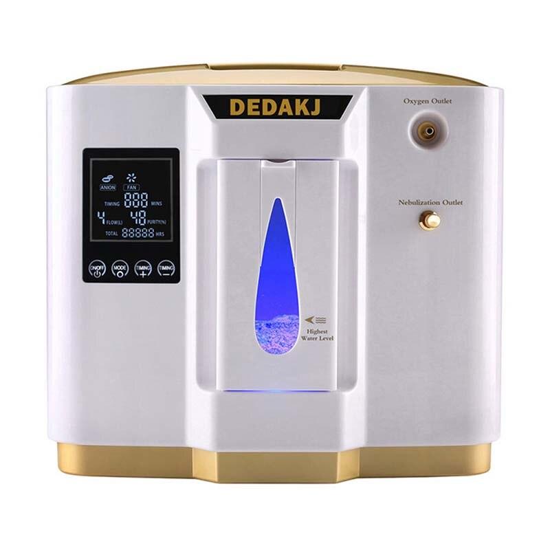 DEDAKJ DDT-1L Concentratore di Ossigeno Portatile Generatori Macchina di Famiglia A Casa Regolabile Purificatore D'aria Ad Alta Purezza AC110V/220 v
