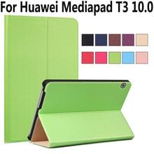Ultra Slim case para Huawei Mediapad T3 10 9.6 pulgadas del cuero del soporte folio funda para Huawei T3 10 + stylus