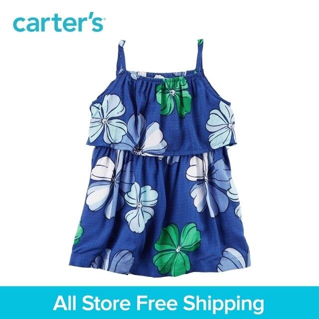 3cb8203ffc12e Carter's 1pcs baby children kids girl clothing spring&summer Layered  Hawaiian Dress a floral design 118H305