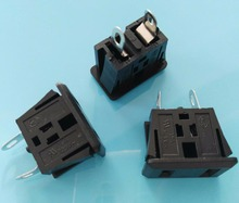 us canada stanarded 2 flat pins AC power socket 15A 125V Connector(China)