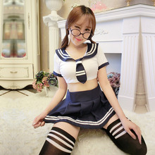2016 Sexy School Girl Costumes Lingerie Hot Student Sailor Uniform Halloween Sex Girl Cosplay Outfit Fancy Dress Uniform