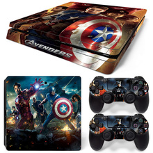 Top grade top sell the Avengers skin sticker for ps4 slim console