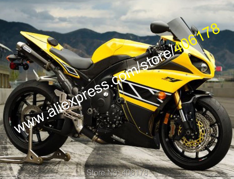 Hot Sales,Yellow Black For Yamaha YZF1000 R1 2009 2010 2011 YZF-R1 YZF 1000 YZF R1 09-11 Motorcycle Fairing (Injection molding)
