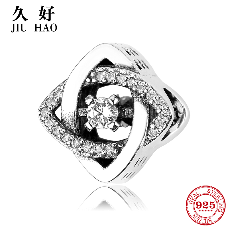 925 sterling silver lovely square zircons bangles fashion gift beads Fit Original Pandora Charms Bracelet Jewelry