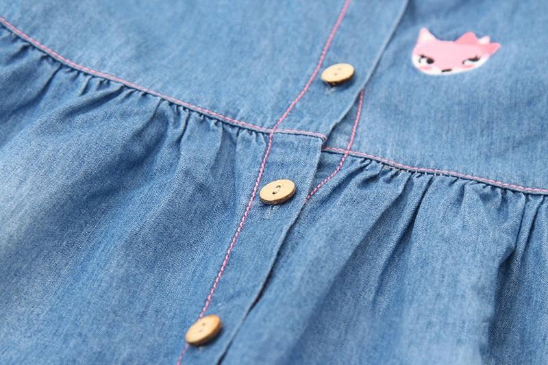 Neue Ankunft Mädchen Sommerkleid Denim Kleider Stickerei - Kinderkleidung - Foto 5