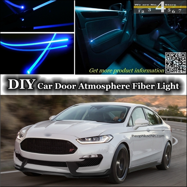 Awesome Interior Ambient Light Tuning Atmosphere Fiber Optic Band Lights For Ford  For Mondeo / Contour Inside