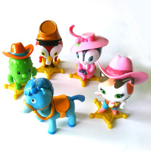 Free Shipping Sheriff Callie's Wild West Film Animiation 5 Pcs Action Figure Living Ornaments Christmas Gift Doll  Toys KH0016