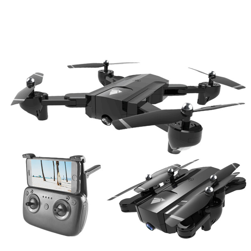 SG900 WiFi FPV Foldable Drone With Double 720P HD Camera Optical Flow Positioning Gesture Photo RC Quadcopter RTF Advanced funsnap idol 2 4g rc drone foldable gps quadcopter with 120 pitch 1080p hd wifi fpv camera optical flow positioning gesture fz